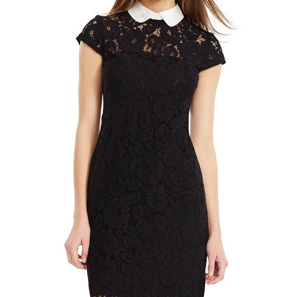 Lauren Ralph Lauren Dresses & Skirts - Lauren Ralph Lauren lace contrast collar Dress